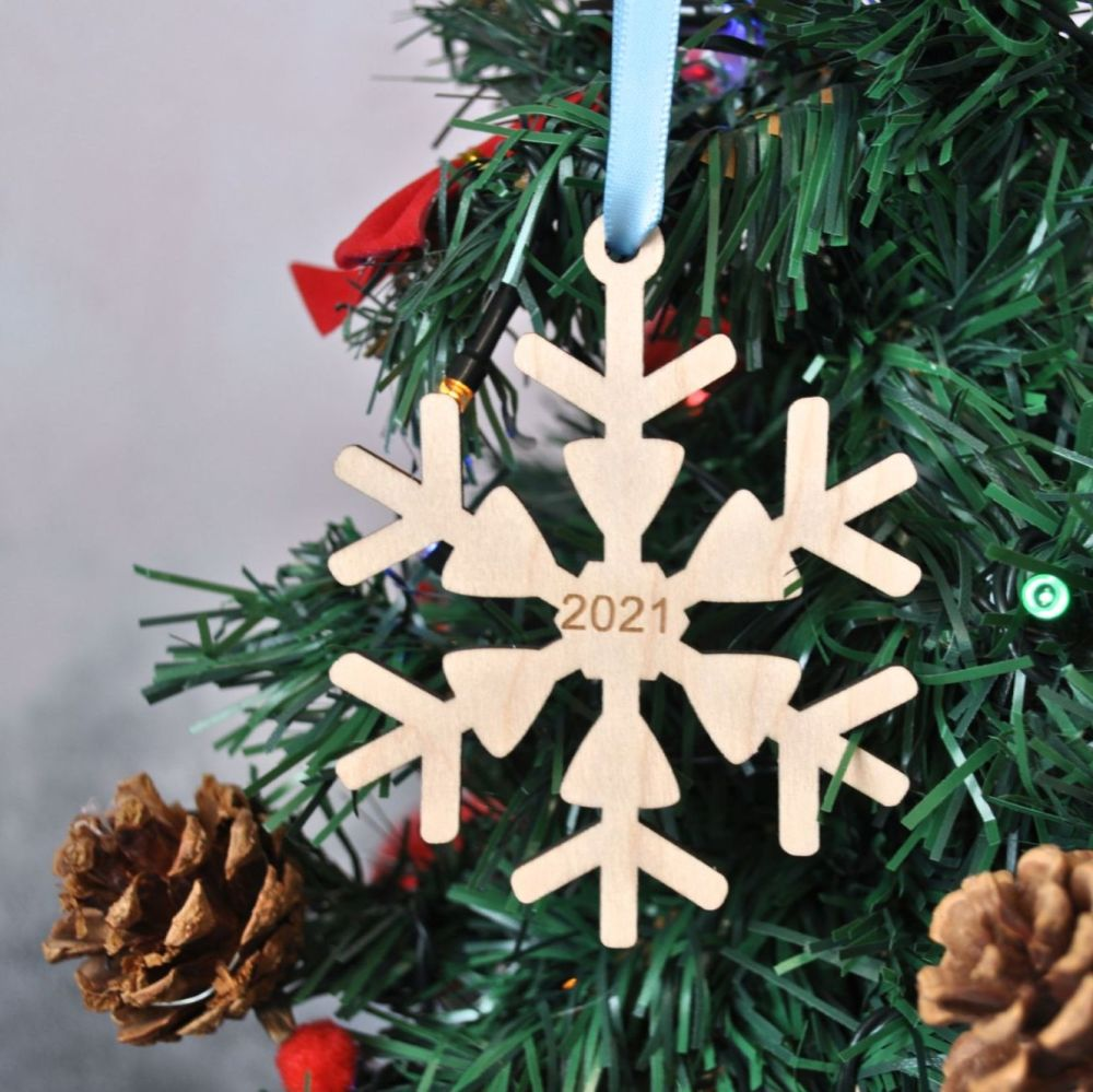 Personalised Snowflake Special Date Decoration