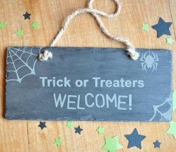 Trick Or Treat Halloween Slate Sign