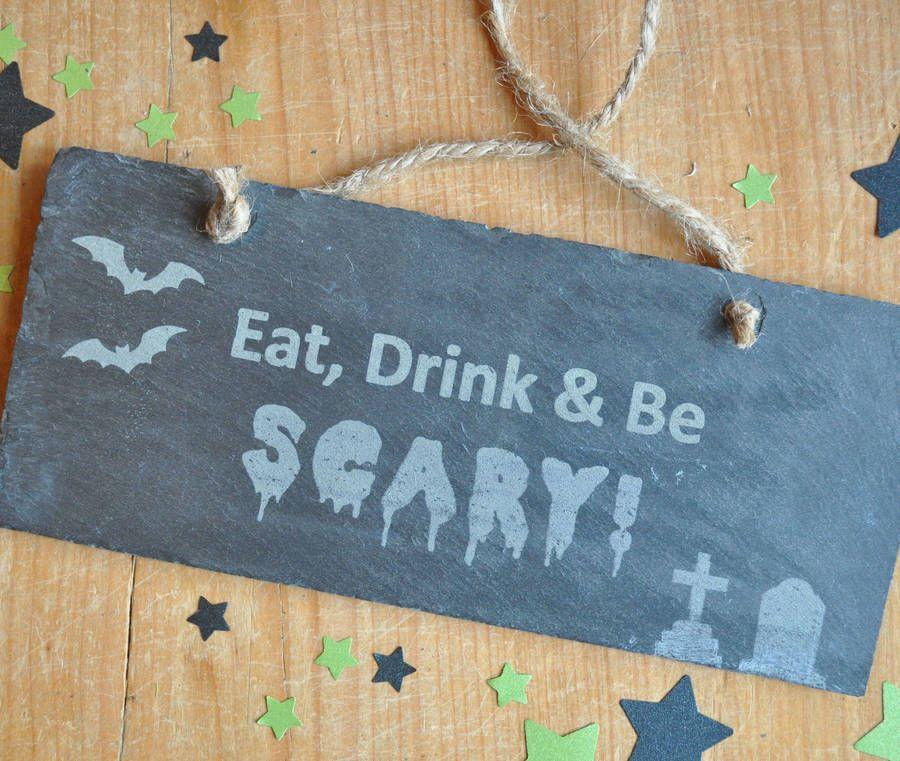 Halloween Slate Sign