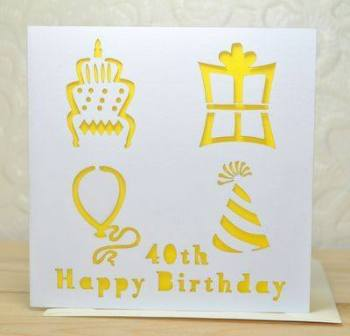 Laser Cut Special Age Birthday Card