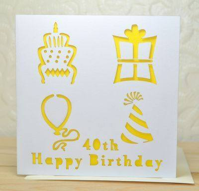 Laser Cut Special Age Birthday Card