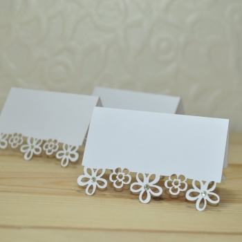 Flower Laser Cut Wedding Place Card