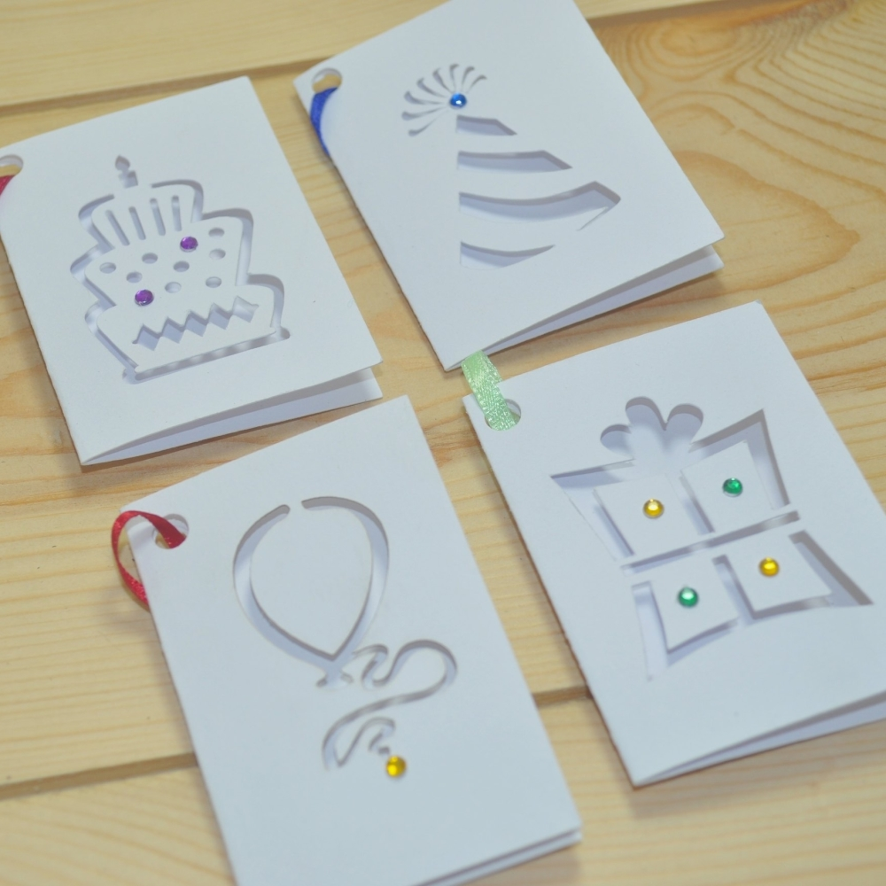 Birthday Laser Cut Gift Tags Pack Of Eight