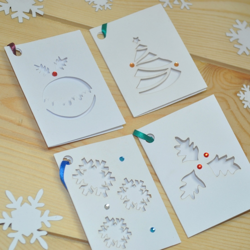 Laser Cut Christmas Gift Tags Pack Of Eight