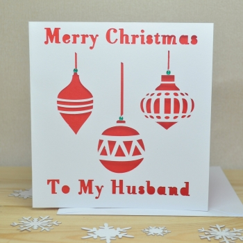 Personalised Laser Cut Bauble Christmas Card