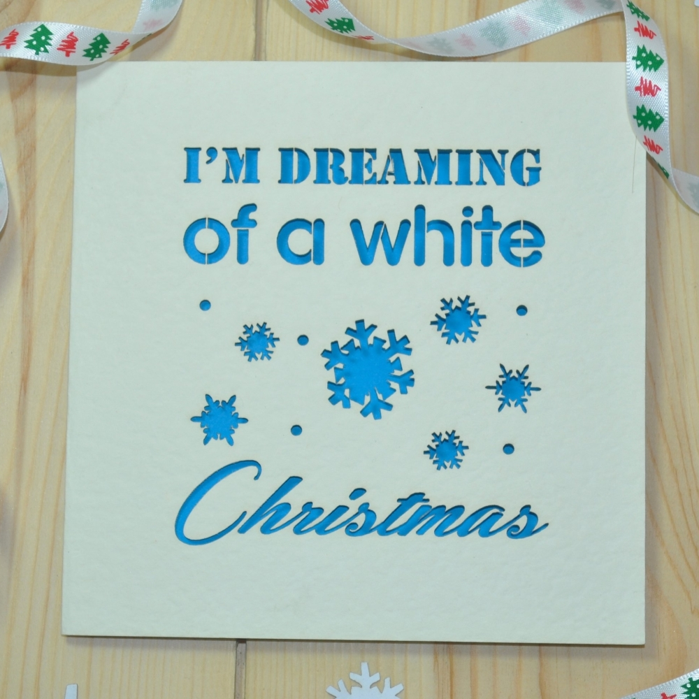 'I'm Dreaming Of A White Christmas' Christmas Card