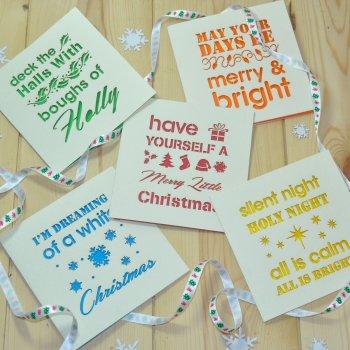 Laser Cut Christmas Cards Pack Of Five