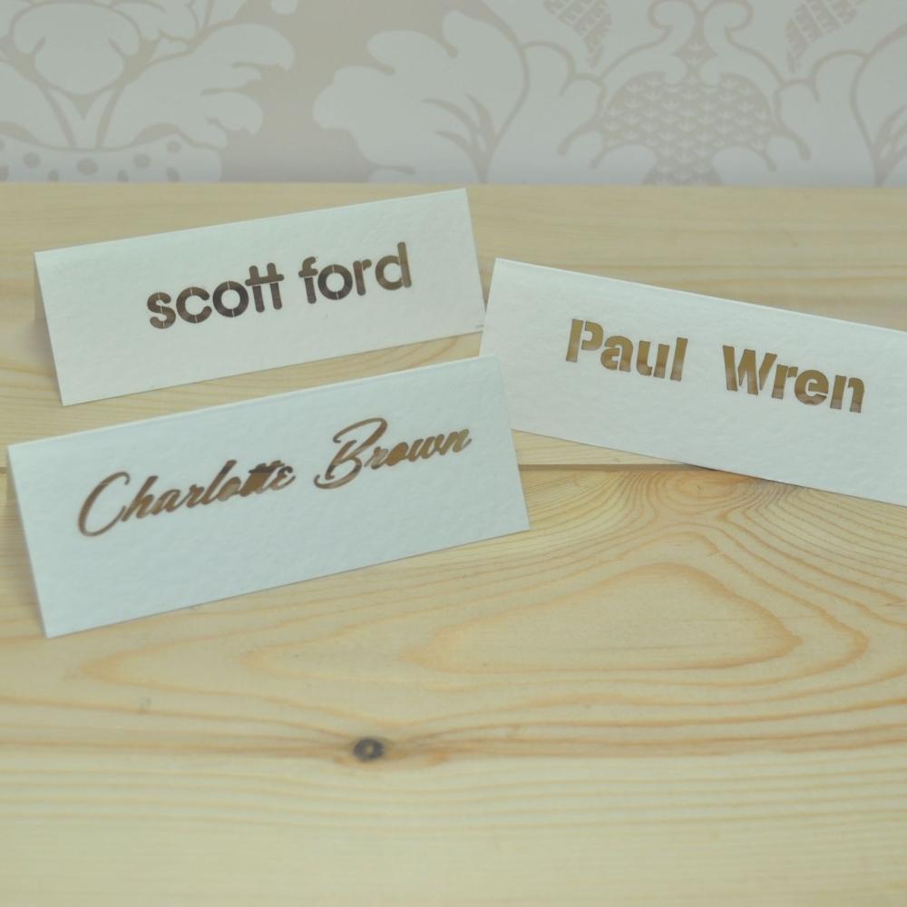 Elegant Laser Cut Place Cards