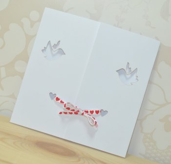 Dove Gatefold Wedding Invitation