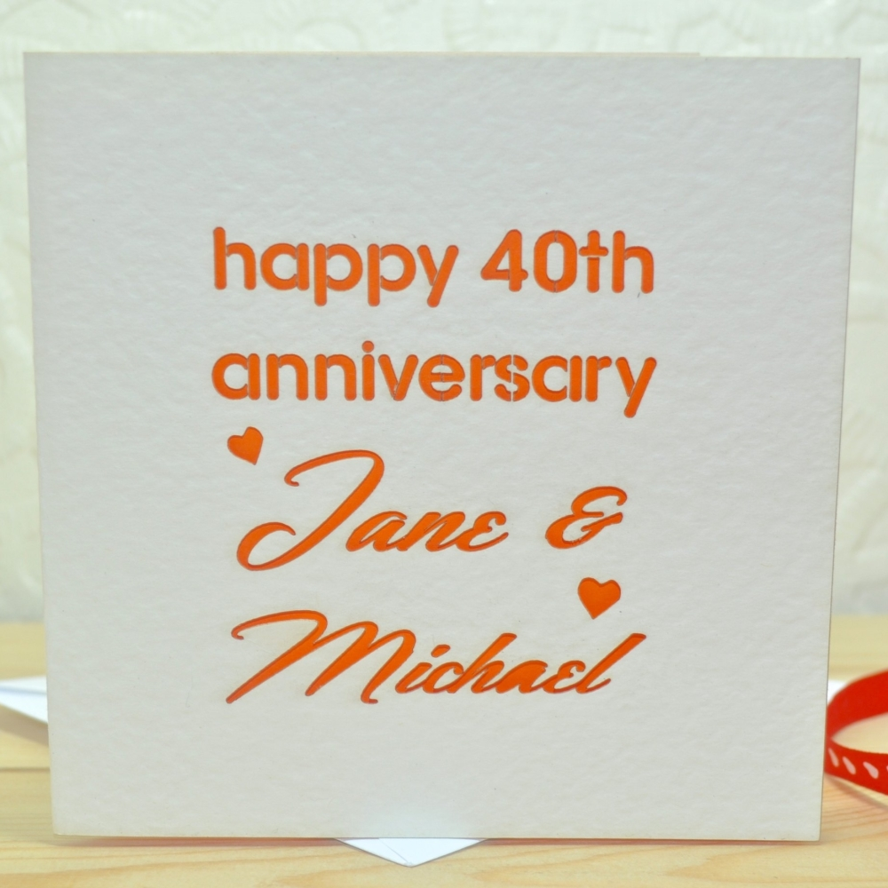 Personalised Laser Cut Anniversary Card