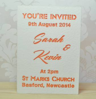 Laser Cut You're Invited Wedding Invitation
