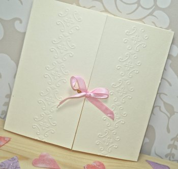Ornamental Embossed Wedding Invitation