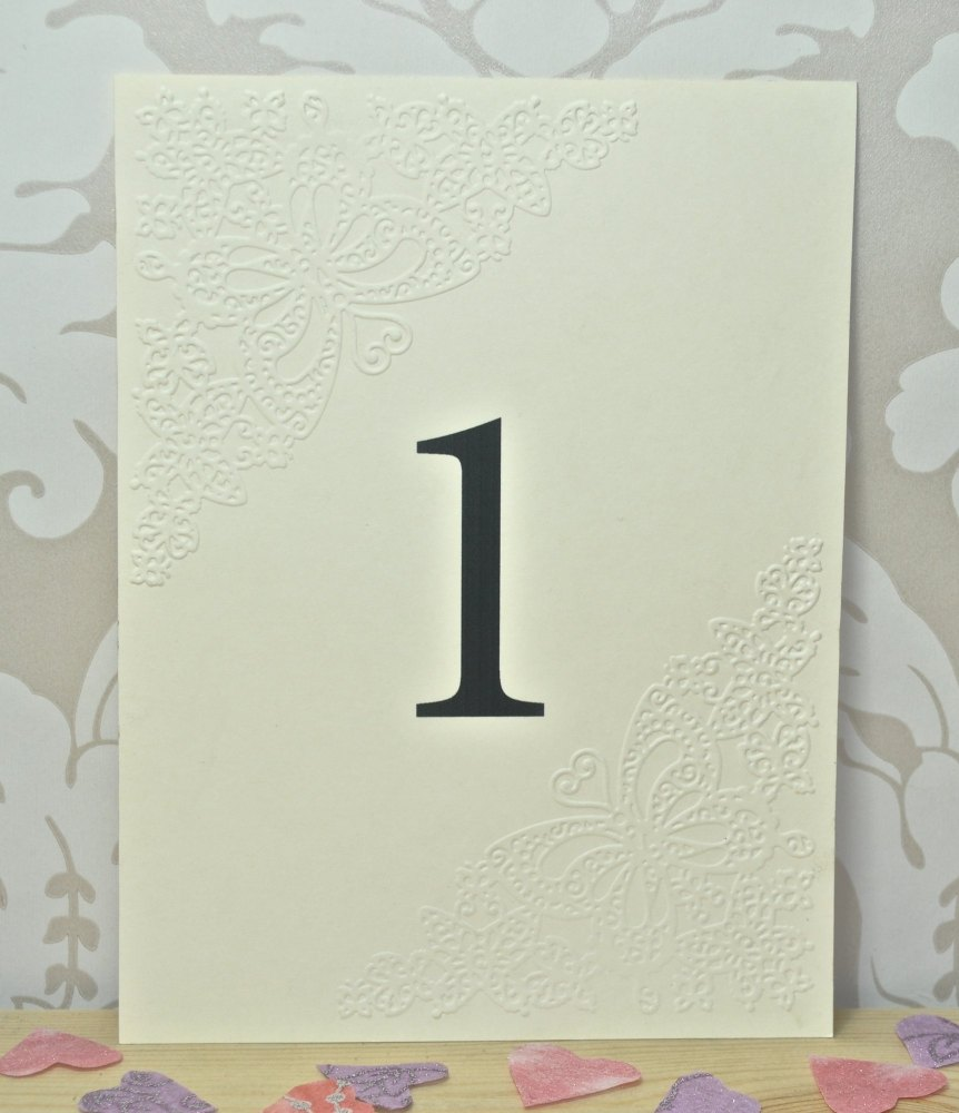 Butterfly Embossed Wedding Table Cards