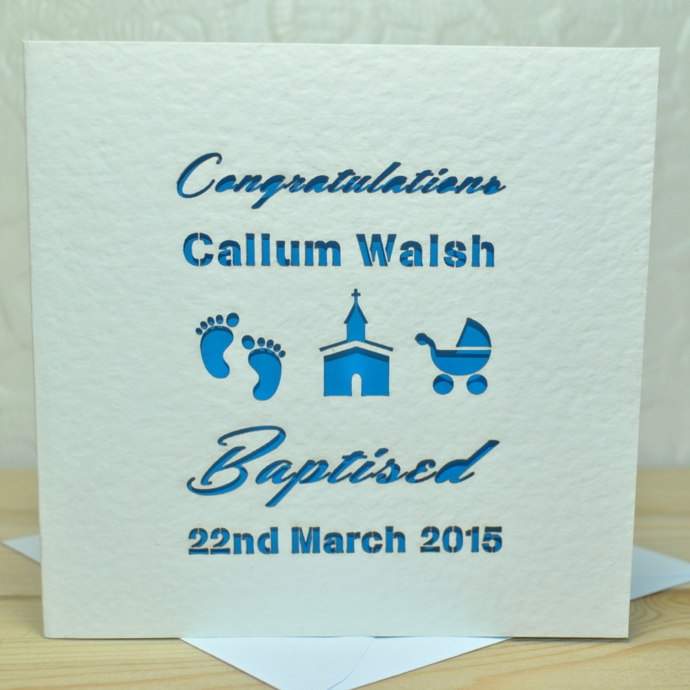 Personalised Laser Cut Baptism Card