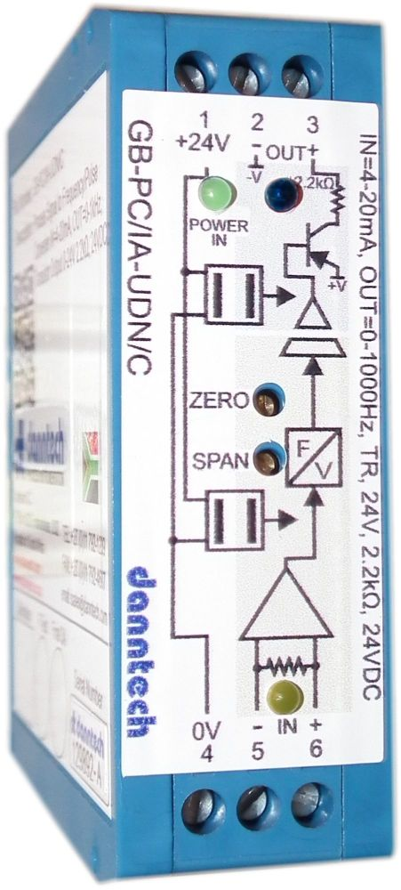 Process Signal Converter to Frequency/Pulse Converter