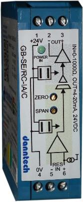 Eco-Line Signal Converter 0-5kΩ to 4-20mA 24VDC Aux