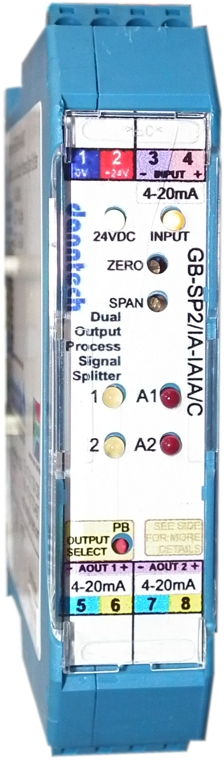 Dual Output Process Signal Splitter with Two Relay Outputs 24VDC