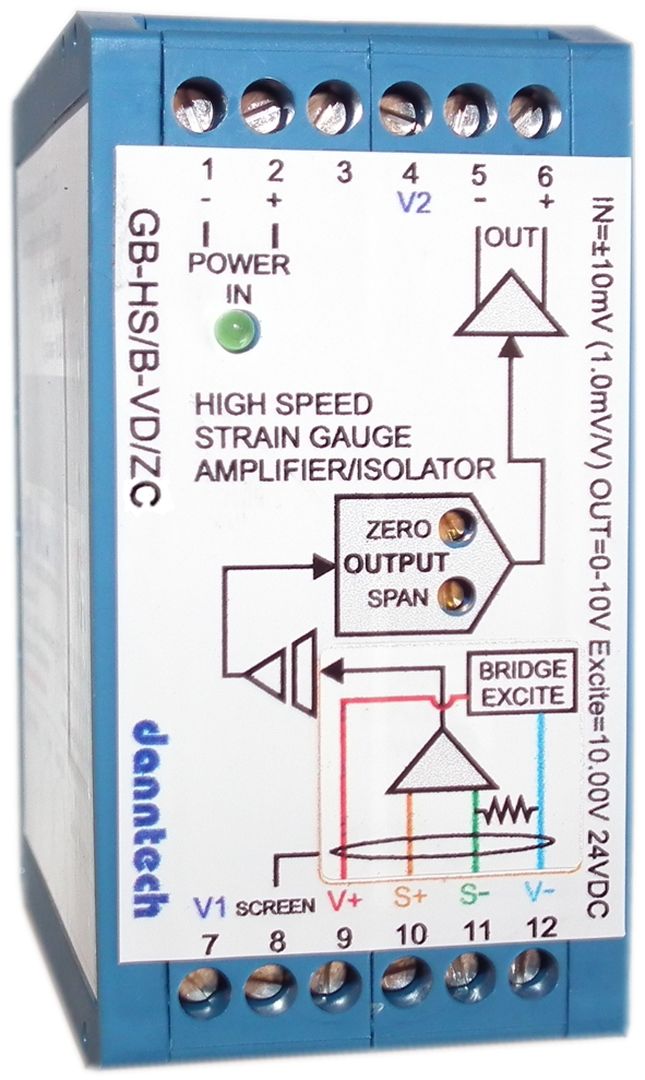 High Speed Strain Gauge Amplifier/Isolator