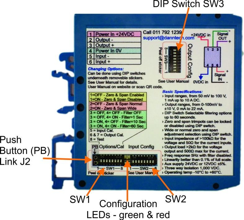 dip switches labeled