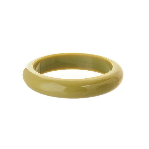 Round Bangle - Olive