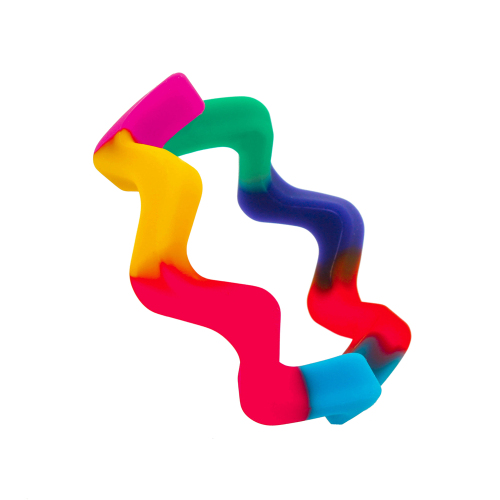 Wave Bangle - Rainbow