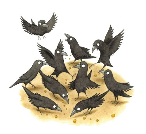 Crow illustration by Emma Allen Illustrator
