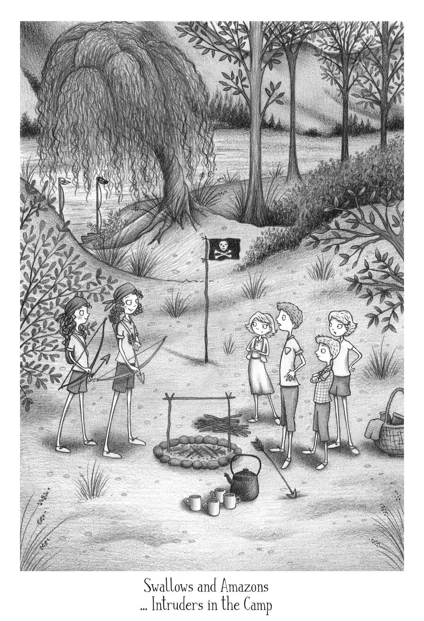 Swallows and Amazons illustration - Intruders in the Camp!