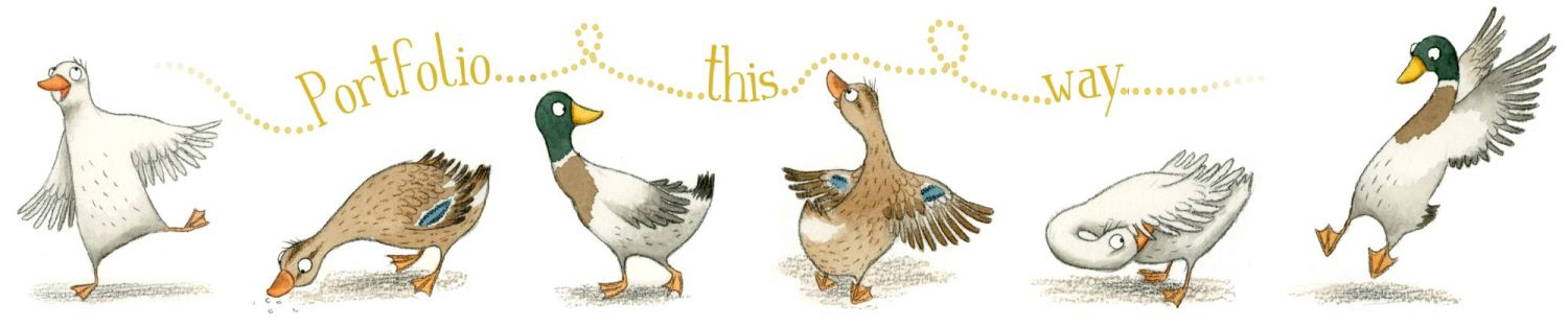 Duck children's illustration by Emma Allen Illustrator