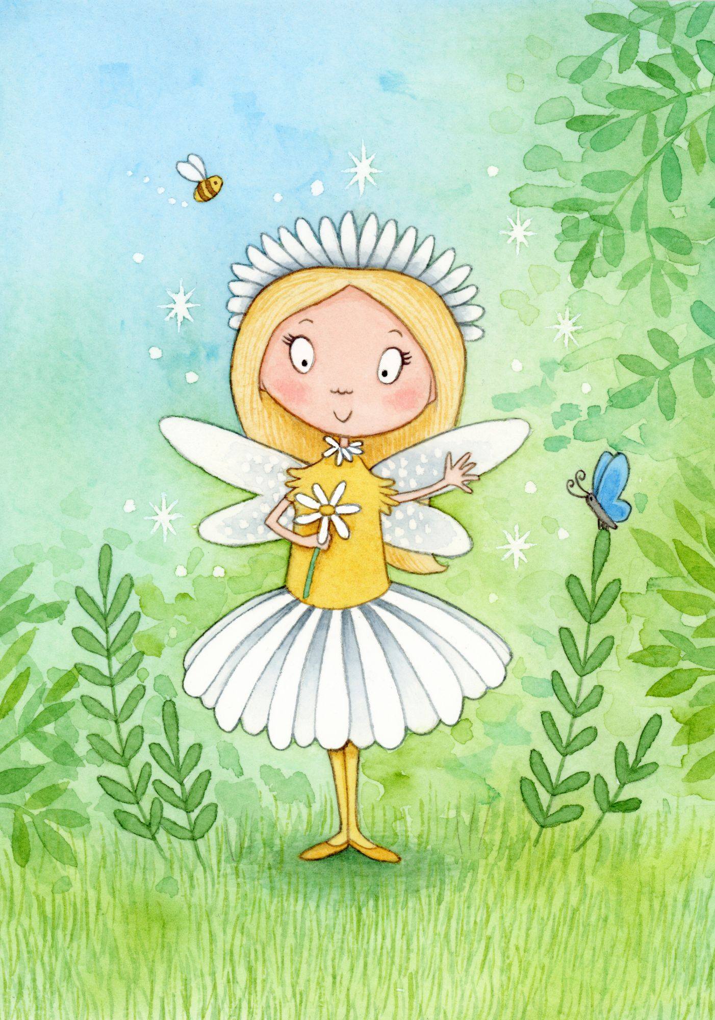 Fairy children's illustration by Emma Allen