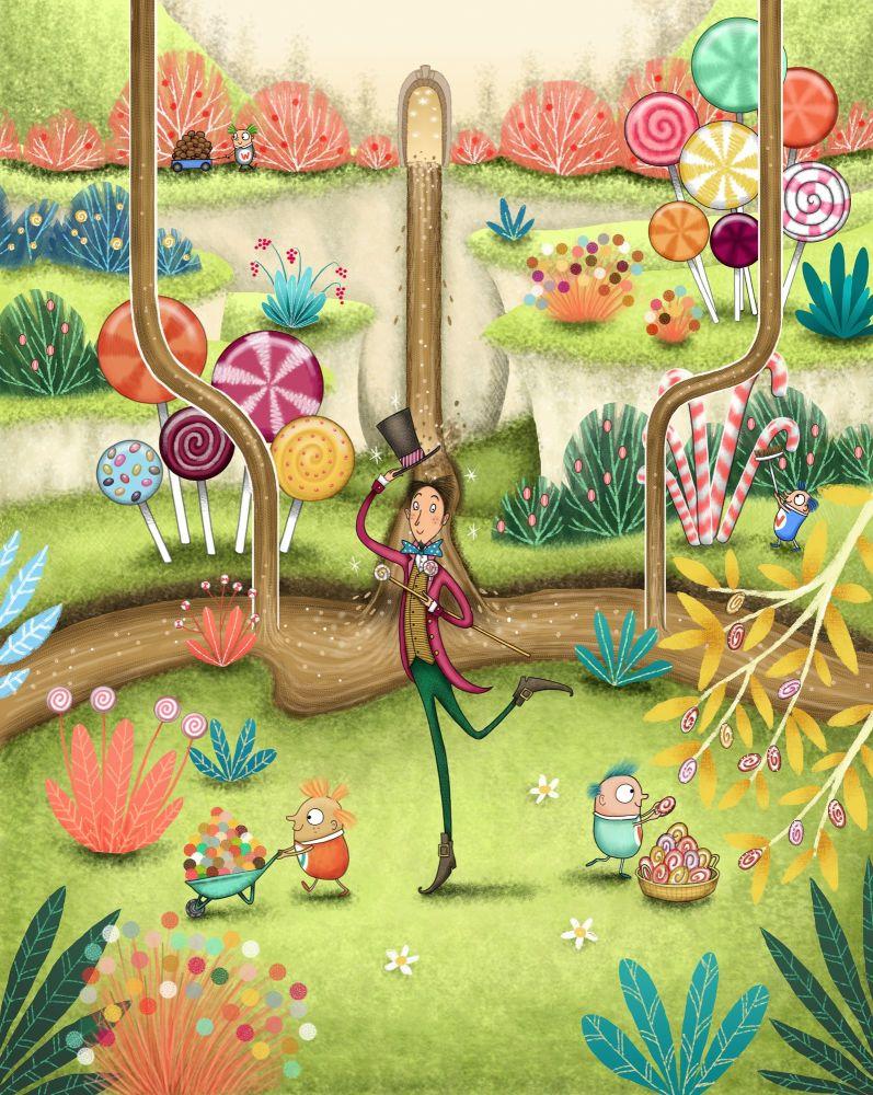 Mr Wonka at the Chocolate Factory - Emma Allen Illustrator