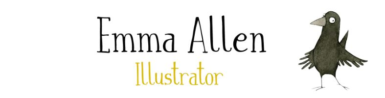 Emma Allen Children's Book Illustrator, site logo.