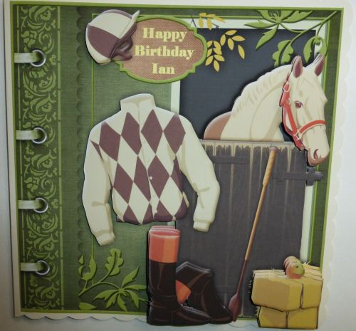 Personalised Horse Racing Card