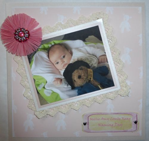 Personalised photo new baby/christening card