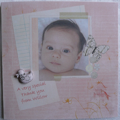 Personalised Photo Baby Thank you Card