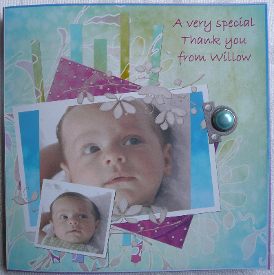 Personalised Photo Baby one sided Thank you (Six Cards)