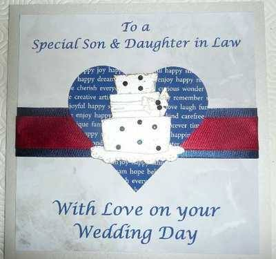 Special Son and Daughter-in-Law Wedding card