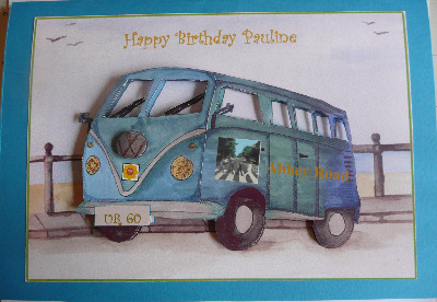 Personalised camper van birthday card