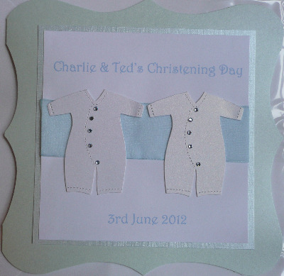 Personalised Twins Christening Card