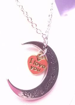Moon & Back Necklace