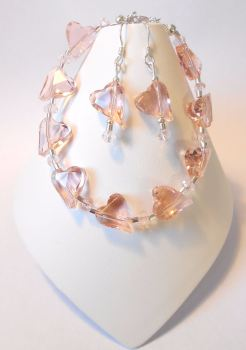 Pink Crystal Heart Set