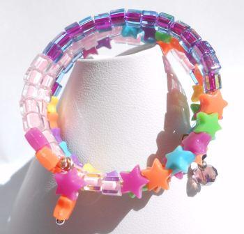Star Memory Wire Bracelet