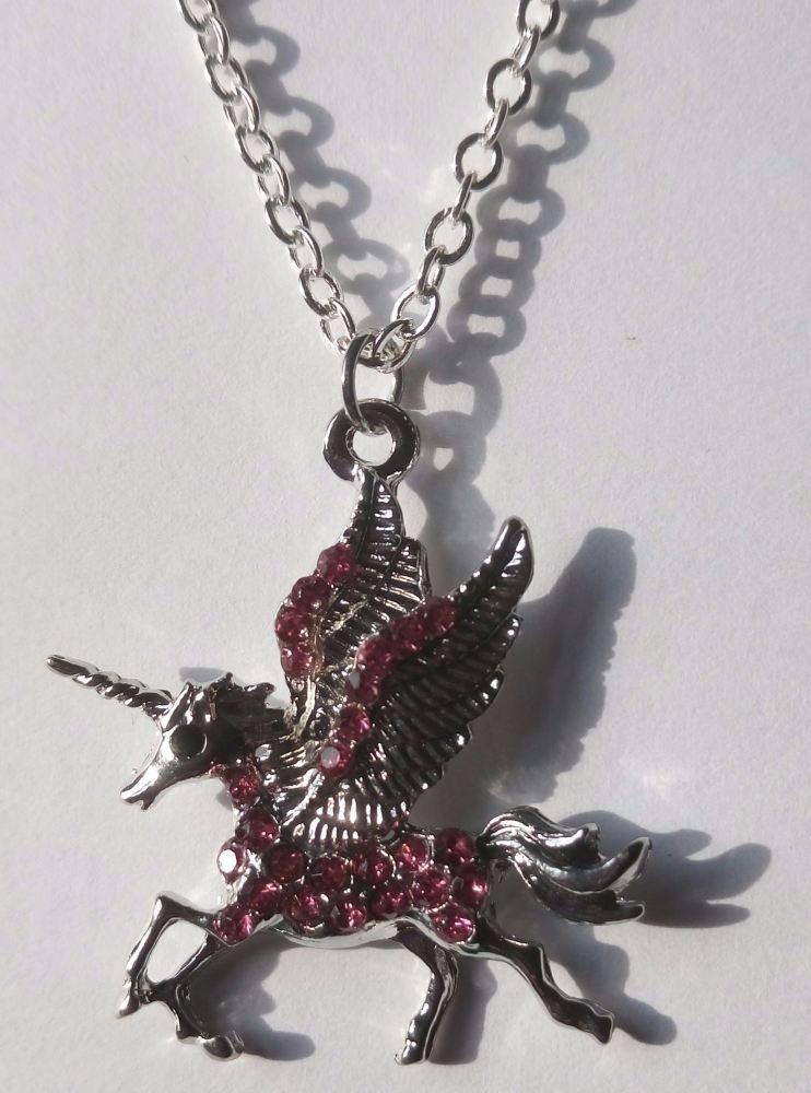 Crystal Unicorn Necklace