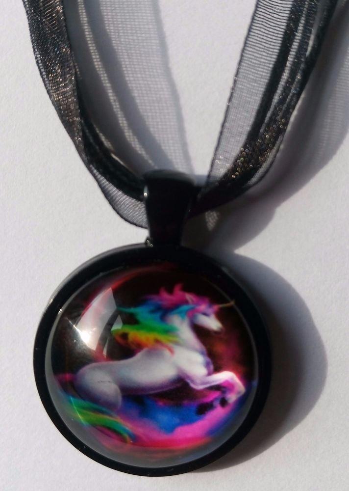 Ribbon Unicorn Necklace