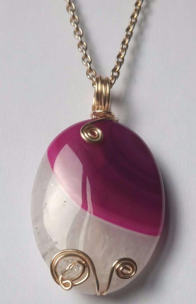 Two Tone Quartz Necklace