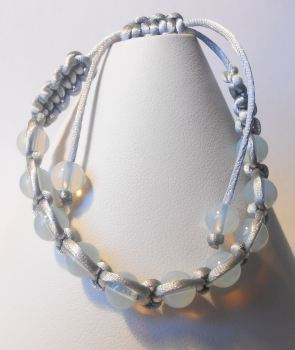 Opal Macrame Bracelet