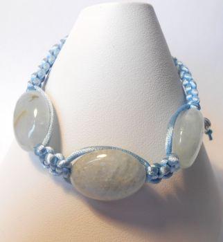 Aquamarine Macrame Bracelet