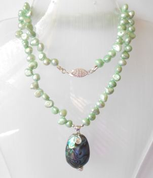 Abalone & Pearl Necklace