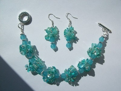 Aquamarine Bracelet & Earrings