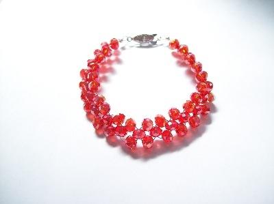 Red Weave Bracelet