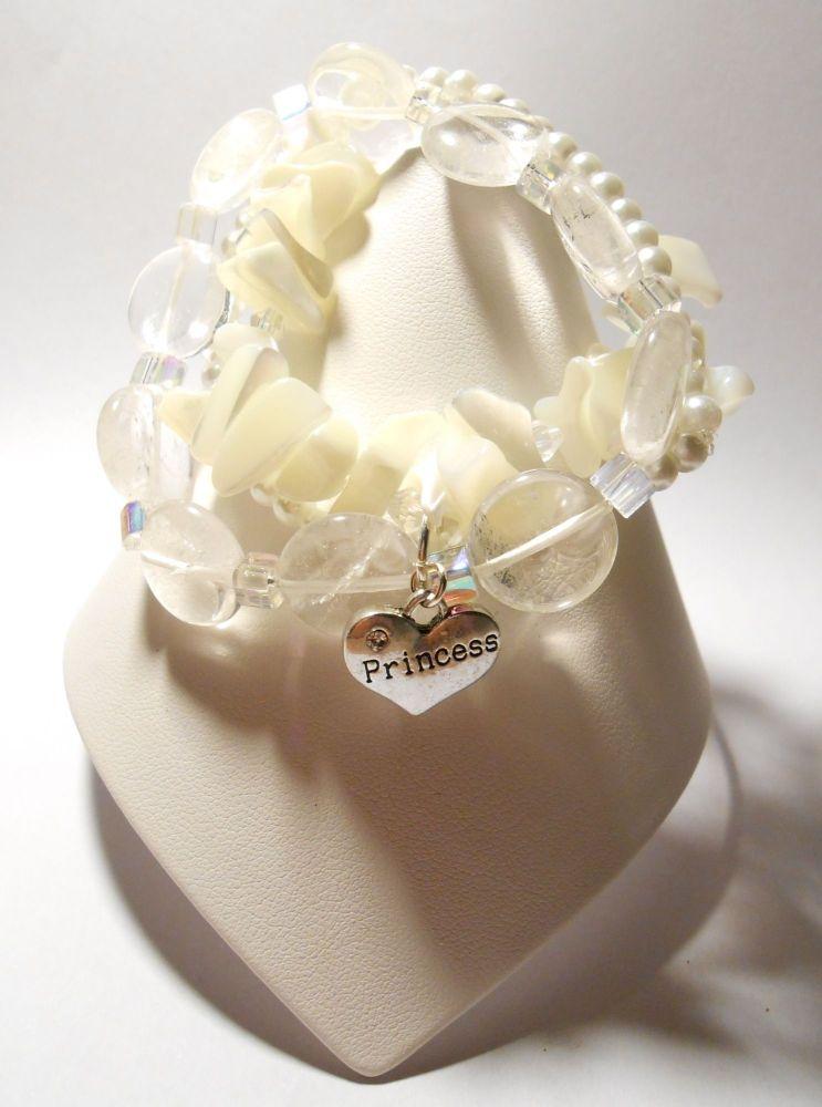 White Stretchy Bracelet